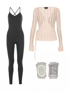 One of our favorite things about barre classes is that the variations of outfits are endless. Go more ballet-inspired with a unitard and a wrap sweater, or stick to the basics and wear leggings and a fitted tank. Grip socks are a good idea for this type of class if you prefer to not be barefoot.