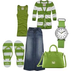 Green Stripes, created by hollie29 on