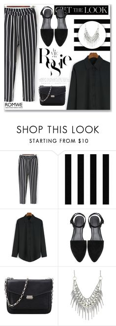 """ROMWE VI"" by abecic ❤ liked on Polyvore featuring Graham & Brown, Whiteley, white, black and romwe"