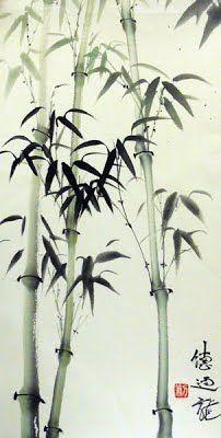 peinture chinoise bambou - Buscar con Google