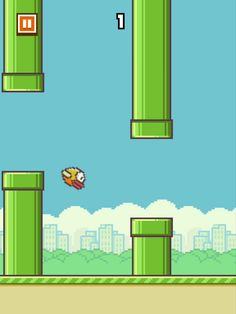 Flappy Bird. The most frustrating game ever.  This goes out to Rhiannon. hahaha