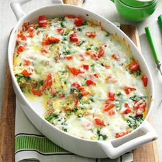 Christmas Breakfast Casserole Recipe -Spicy sausage, herbs and vegetables fill this egg casserole with hearty flavor. I like to make it for my family's Christmas breakfast, but it's delicious anytime of day! —Debbie Carter, O'Fallon, Illinois