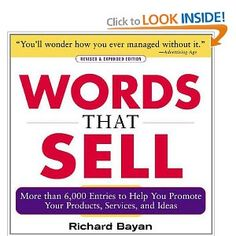 This book and Ca$hvertising are permanently on my desk. Include over 6000 words and phrases that will help you write copy that sells.