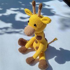 Geoff the Giraffe - UK Terminology - Amigurumi Crochet pattern by Little Green Bear Giraffe Crochet, Giraffe Pattern, Crochet Amigurumi, Amigurumi Doll, Crocheted Toys, Crochet Toys Patterns, Stuffed Toys Patterns, Green Bear, Little Giraffe