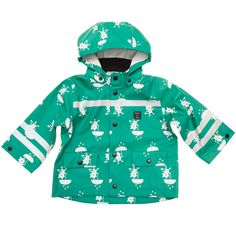 Adorable Firefighter Rain Coat with Cat Print. From Polarn O. Pyret USA