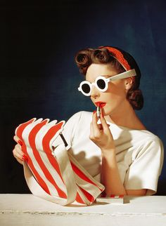 Looks like a lot of pin-up/Rockabilly style had earlier influences:1939 Vogue, Muriel Maxwell