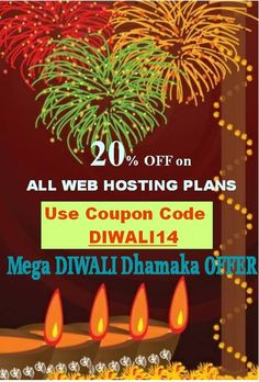 The mega DIWALI offer, Hostidia.net is giving flat 20% off on the linux, windows and shared hosting plans. Hurry offer valid for limited period only. hostindia.net