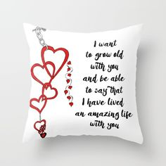Chained Heart for valentines day Throw Pillow love, heart, red, zen, ink, illustration, unique, trendy, girlfriend, boyfriend, wife, husband, lover, friendship, romance, cute, cool, organic, hand made, valentine day, special