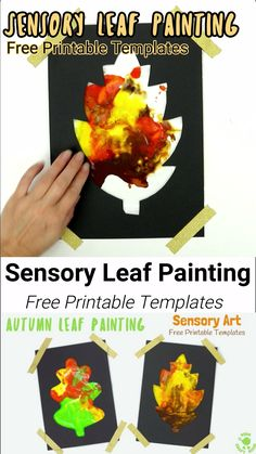 Mess Free Sensory Fall Leaf Painting is a wonderful activity to explore the changing colours of the season and engage the senses. This Fall craft lets kids watch leaves change colour right in front of their eyes. A fun Fall art idea and sensory play activ Toddler Arts And Crafts, Halloween Crafts For Toddlers, Fall Crafts For Kids, Art For Kids, Kids Diy, Fall Leaves Crafts, Toddler Thanksgiving Crafts, Fall Art For Toddlers, Preschool Fall Crafts