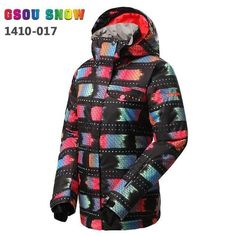 5e356c44c06 GSOU SNOW Waterproof Patterned Snowboard Jacket - Women s