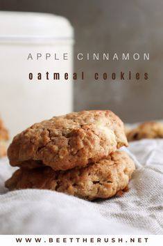 Are you looking for some cookies to make at home? Homemade cookies are the best, and these apple cinnamon oatmeal cookies look healthy enough to be eaten without guilt! #cookies #homemade #applecinnamon #oatmeal Cinnamon Desserts, Cinnamon Recipes, Apple Cinnamon Oatmeal, Cinnamon Apples, Cookie Recipes, Dessert Recipes, Cookies From Scratch, Homemade Cookies, How To Eat Paleo