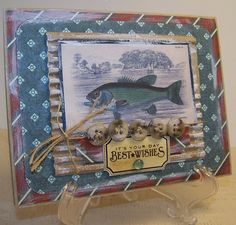 Cards for Men - Masculine Cards - Fishing Theme - Vintage Style