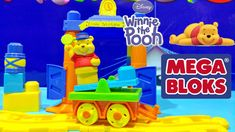 Winnie the Pooh Mega Bloks Disney Buildable Train Station Toy Build the ...