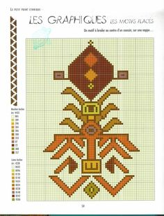 Tapestry Crochet Patterns, Crochet Mandala, Bead Loom Patterns, Cross Stitch Patterns, Knitting Patterns, Loom Bands, Folk Embroidery, Embroidery Patterns, Bordado Popular
