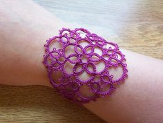 lace cuff bracelet tatted bridesmaid bracelet lace by MamaTats, $18.00