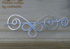 Adorable Celtic Aries Brooch, Hair/Bag/Shawl Pin- Very Light to Wear - Elegant and Decorative Pin/Brooch. $17.00, via Etsy.