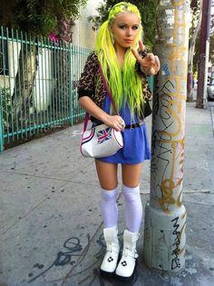 Kerli...her haircolor looks like Manic Panic Electric Banana, right?