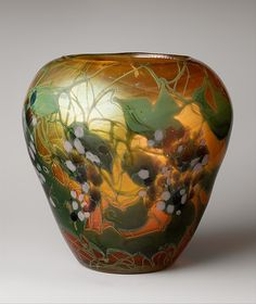 Vase, Favrile glass, 1902-1903