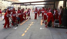 Pitstop practice for Team Ferrari at the 2013 Chinese GP