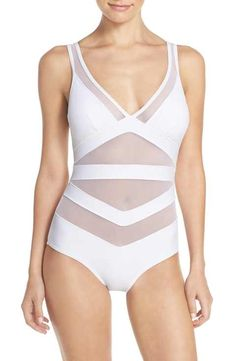 Ted Baker London  Ralinda  Banded One-Piece Swimsuit   bathing suits    Pinterest a43f516690