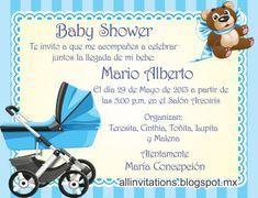 plantillas de invitaciones de baby shower para imprimir en word - Buscar con Google