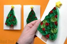 Christmas Tree Quilling - Red Ted Art's Blog