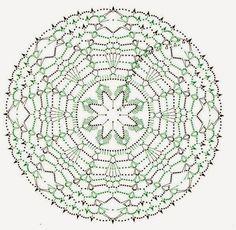 Tecendo Artes em Crochet: Três Lindas Toalhinhas com Gráficos para Vocês! TAPETE AZUL Y BLANCO.