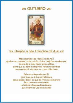 Oração de proteção para Outubro - S. Francisco de Assis