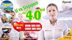 Vi vu du lịch Singapore thả ga nay chỉ 40 usd hãng Tiger Air
