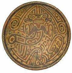 Pedestal Plate with Praying Mantis Motif Central America, Panamá, Macaracas. Period VIB, AD 800-1000.