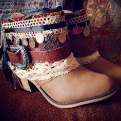 READY TO SHIP Hippie Boho Boots by AlwaysDreamBigCrafts on Etsy, $115.00