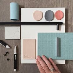 What a flatlay! Another beautiful moodboard by Petrina Turner Design featuring our Elmosoft leather in a beautiful palette of soft duck egg blues, warm grey, blush pink and bright peach coral. Duck Egg Blue Colour Palette, Blue Palette, Blue Color Schemes, Peach Rooms, Peach Bedroom, Pink Bedrooms, Bedroom Colour Schemes Inspiration, Bedroom Color Schemes, Bedroom Colors