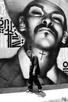Street art by El Mac and Retna