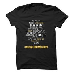 Show you support your local music scene when you wear this tee featuring a well-known quote about music!