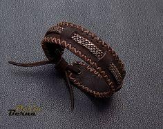 Men leather braided copper bracelet,Brown leather men bracelete,men jewelry,men cuff bracelet,men accesory,leather bracelet,men leather cuff
