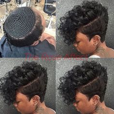 Love This Look My Next Summer Hair Style Buns And Updos with measurements 1080 X 1080 Short Weave Hairstyles With Shaved Sides - Selecting a hairstyle can Black Girls Hairstyles, Summer Hairstyles, Short Sew In Hairstyles, Bob Hairstyles, Braided Hairstyles, 27 Piece Hairstyles, Hairstyles Pictures, Curly Hair Styles, Natural Hair Styles