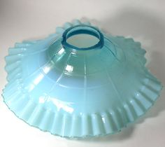 Your place to buy and sell all things handmade Relaxing Colors, Aqua Glass, Milk Glass, Aqua Blue, Flute, Light Fixtures, Bathrooms, Nursery, Shades