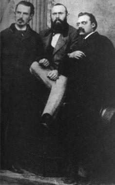 Nietzsche, Friedrich  - Erwin Rohde, Carl von Gersdorff and Nietzsche, 1871