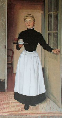 Felix Vallotton  The maid (detail) 1892