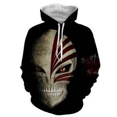 Bleach Hoodie, Anime Cosplay Costumes, Anime Merchandise, Bleach Anime, Unisex, Sweatshirts, Full Face, Anime Hoodies, Skull