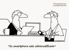 Humor Gráfico: El Smartphone en la Entrevista de Trabajo
