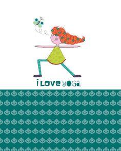 I love Yoga mini journal  i do care designs  by Jazmin Sasky