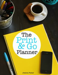 The Print & Go Planner - ready when you are - to plan, organize, and go. Get it now and get organized!