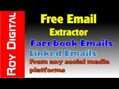 Extract free email ids from the Internet and create a huge database of email ids. Extract email ids from many social media platforms like Linkedin and Facebo. Email Id, Free Email, Email Extractor, Extractor Tool, Software, For Facebook, Youtube, Social Media, Marketing
