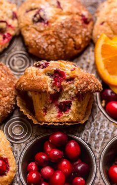 Cranberry Orange Muffins, Cranberry Recipes, Fall Recipes, Flaky Biscuits, Frozen Cranberries, Cinnamon Muffins, Muffin Recipes, Bread Recipes, Breakfast Recipes