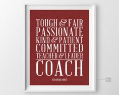 Gift for Coach Thank You Cheer Coach Gift from by BlackstarPress