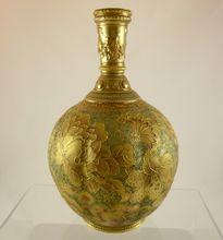 CROWN DERBY for TIFFANY gold porcelain vase c1886