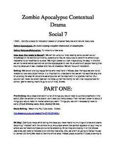 Zombie Apocalypse - SK Grade 7 Social Studies Unit