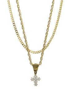 Mister Micro Crucis Necklace - Gold