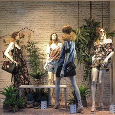 Urban Jungle Boutique Interior, Boutique Decor, Boutique Window Displays, Store Window Displays, Visual Merchandising Displays, Visual Display, Fashion Retail Interior, Clothing Store Design, Boutiques